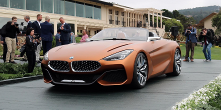 BMW Z4 2019 года проводит свой официальный дебют на Pebble Beach